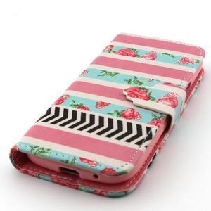 Diaryleather pouzdro na mobil Samsung Galaxy S4 mini - růže - 6
