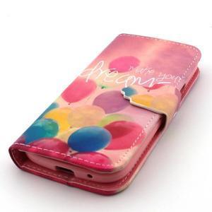 Diaryleather pouzdro na mobil Samsung Galaxy S4 mini - balónky - 6