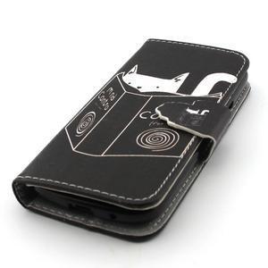 Diaryleather pouzdro na mobil Samsung Galaxy S4 mini - kočička čte - 6