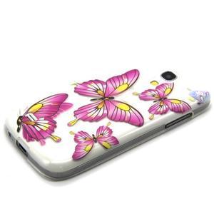 Transparentní gelový obal na Samsung Galaxy S4 mini - motýlci - 6