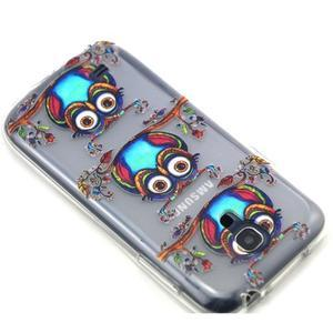 Transparentní gelový obal na Samsung Galaxy S4 mini - sovičky - 6