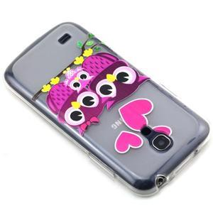 Transparentní gelový obal na Samsung Galaxy S4 mini - soví rodinka - 6