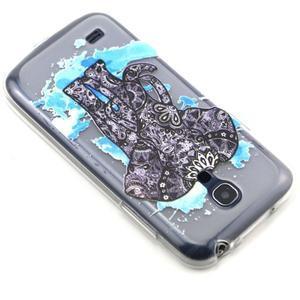 Transparentní gelový obal na Samsung Galaxy S4 mini - slon - 6