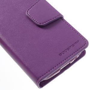Sonata PU kožené pouzdro na mobil Samsung Galaxy S4 mini - fialové - 6