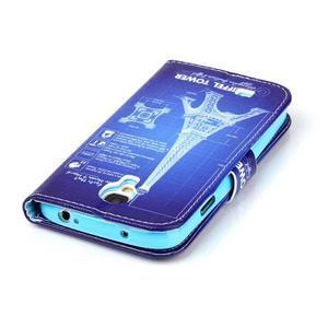 Emotive peněženkové pouzdro na Samsung Galaxy S4 mini - Eiffelova věž - 6