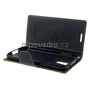 Diary peněženkové pouzdro na Samsung Galaxy S5 - zelené - 6