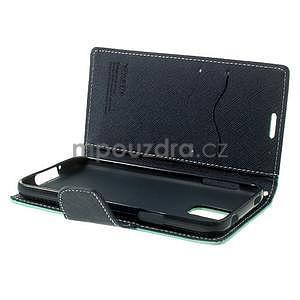 Diary peněženkové pouzdro na Samsung Galaxy S5 - azurové - 6