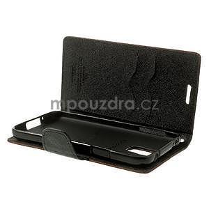 Diary peněženkové pouzdro na Samsung Galaxy S5 - hnědé - 6