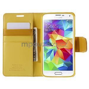 Elegantní peněženkové pouzdro na Samsung Galaxy S5 - žluté - 6