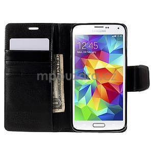Elegantní peněženkové pouzdro na Samsung Galaxy S5 - černé - 6