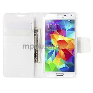 Elegantní peněženkové pouzdro na Samsung Galaxy S5 - bílé - 6