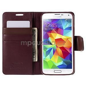 Elegantní peněženkové pouzdro na Samsung Galaxy S5 - vínové - 6