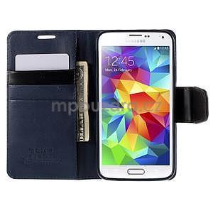 Elegantní peněženkové pouzdro na Samsung Galaxy S5 - tmavěmodré - 6