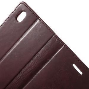 Moon PU kožené pouzdro na mobil Sony Xperia M4 Aqua - vínové - 6