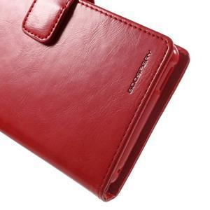 Moon PU kožené pouzdro na mobil Sony Xperia M4 Aqua - červené - 6