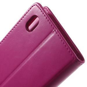 Moon PU kožené pouzdro na mobil Sony Xperia M4 Aqua - rose - 6