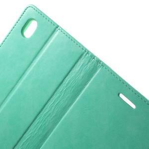 Moon PU kožené pouzdro na mobil Sony Xperia M4 Aqua - azurové - 6