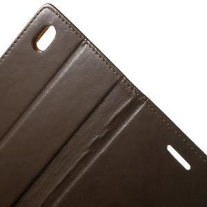 Moon PU kožené pouzdro na mobil Sony Xperia M4 Aqua - hnědé - 6