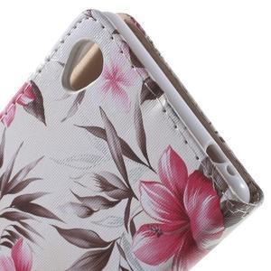 Květinkové pouzdro na mobil Sony Xperia M4 Aqua - bílé - 6