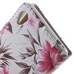 Květinkové pouzdro na mobil Sony Xperia M4 Aqua - bílé - 6/7
