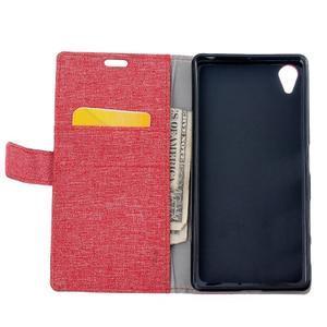 Texture pouzdro na mobil Sony Xperia X - červené - 6
