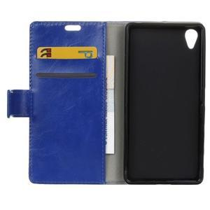 Horse PU kožené pouzdro na Sony Xperia X - modré - 6