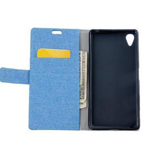 Texture pouzdro na mobil Sony Xperia X - modré - 6