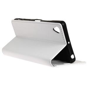 Knížkové PU kožené pouzdro na Sony Xperia X - bílé - 6
