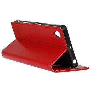Knížkové PU kožené pouzdro na Sony Xperia X - červené - 6