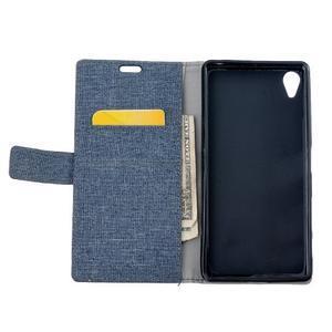 Texture pouzdro na mobil Sony Xperia X - tmavěmodré - 6
