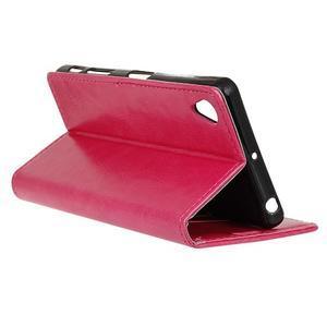 Knížkové PU kožené pouzdro na Sony Xperia X - rose - 6