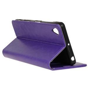 Knížkové PU kožené pouzdro na Sony Xperia X - fialové - 6