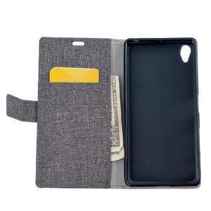 Texture pouzdro na mobil Sony Xperia X - šedé - 6