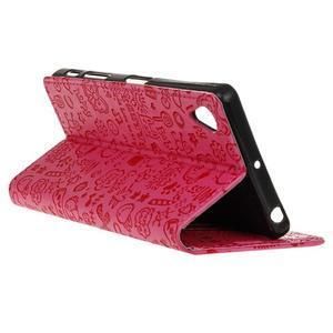Cartoo peněženkové pouzdro na Sony Xperia X - rose - 6