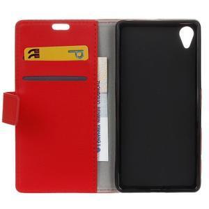 Grain koženkové pouzdro na Sony Xperia X - červené - 6