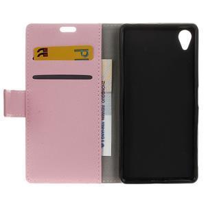 Grain koženkové pouzdro na Sony Xperia X - růžové - 6