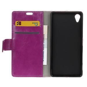 Horse peněženkové pouzdro na Sony Xperia X Performance - fialové - 6