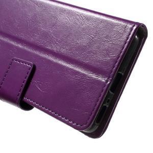 Horse PU kožené pouzdro na mobil Sony Xperia XA - fialové - 6