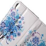 Emotive pouzdro na mobil Sony Xperia XA - modrý strom - 6/7