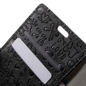 Cartoo peněženkové pouzdro na mobil Sony Xperia XA - černé - 6