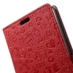 Cartoo peněženkové pouzdro na mobil Sony Xperia XA - červené - 6