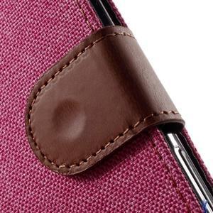 Denim textilní/koženkové pouzdro na Sony Xperia XA - rose - 6
