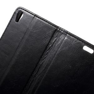 Horse PU kožené pouzdro na mobil Sony Xperia XA - černé - 6