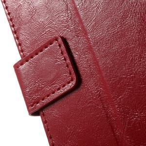Horse PU kožené pouzdro na mobil Sony Xperia XA - červené - 6