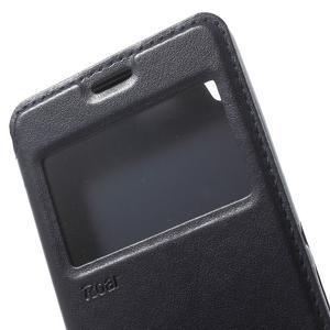 Royal PU kožené pouzdro s okýnkem na Sony Xperia XA - tmavěmodré - 6