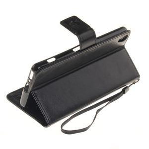 Dandely PU kožené pouzdro na mobil Sony Xperia XA - černé - 6