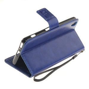 Dandely PU kožené pouzdro na mobil Sony Xperia XA - modré - 6