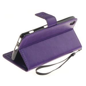 Dandely PU kožené pouzdro na mobil Sony Xperia XA - fialové - 6