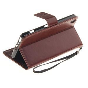 Dandely PU kožené pouzdro na mobil Sony Xperia XA - hnědé - 6