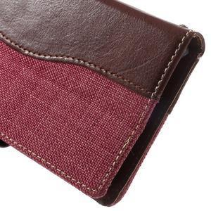 Jeansy PU kožené/textilní pouzdro na Sony Xperia XA - rose - 6